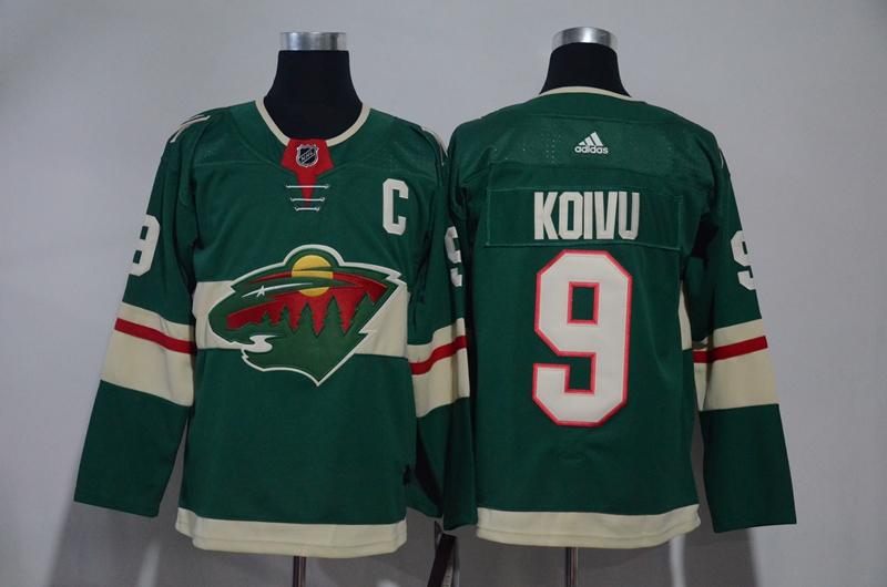 Wild 9 Mikko Koivu Green Adidas Jersey