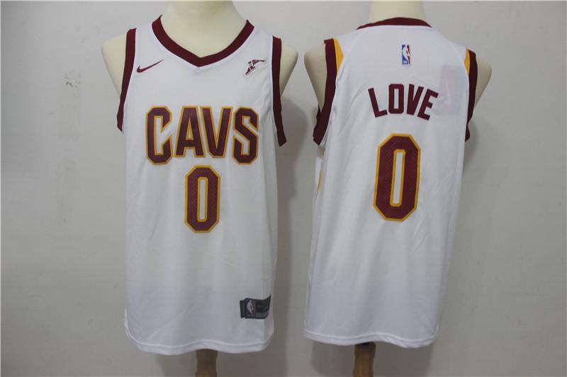 Cavaliers 0 Kevin Love White Nike Swingman Jersey