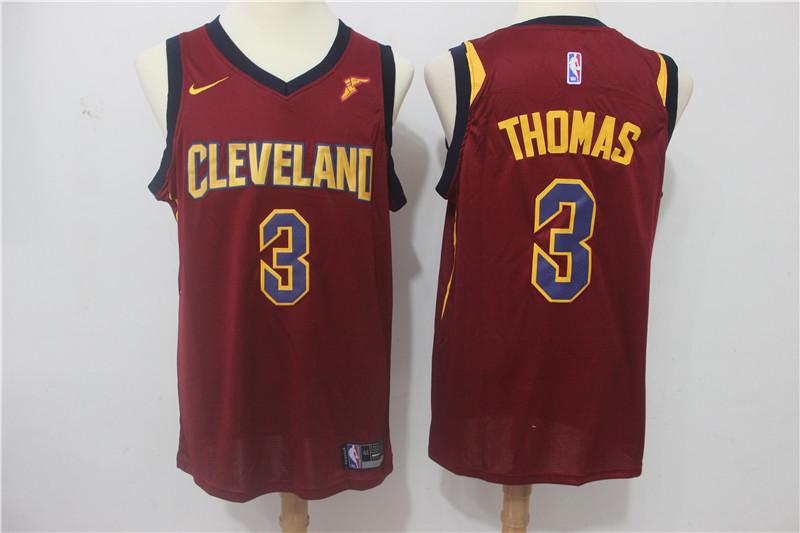 Cavaliers 3 Isaiah Thomas Red Nike Swingman Jersey
