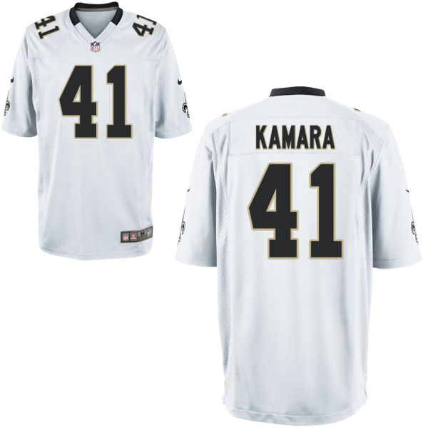 Nike Saints 41 Alvin Kamara White Youth Game Jersey