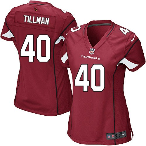 Nike Cardinals 40 Pat Tillman Red Women Game Jersey