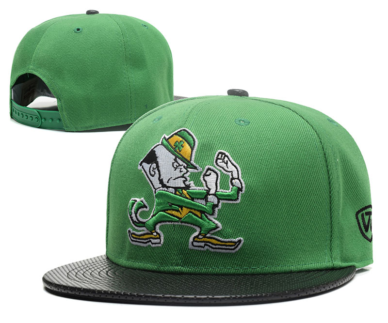 Notre Dame Fighting Irish Team Logo Green Adjustable Hat GS