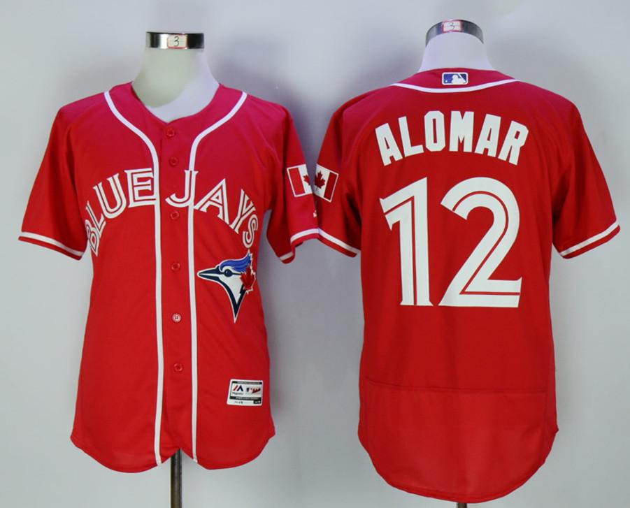 Blue Jays 12 Roberto Alomar Red Alternate Flexbase Jersey