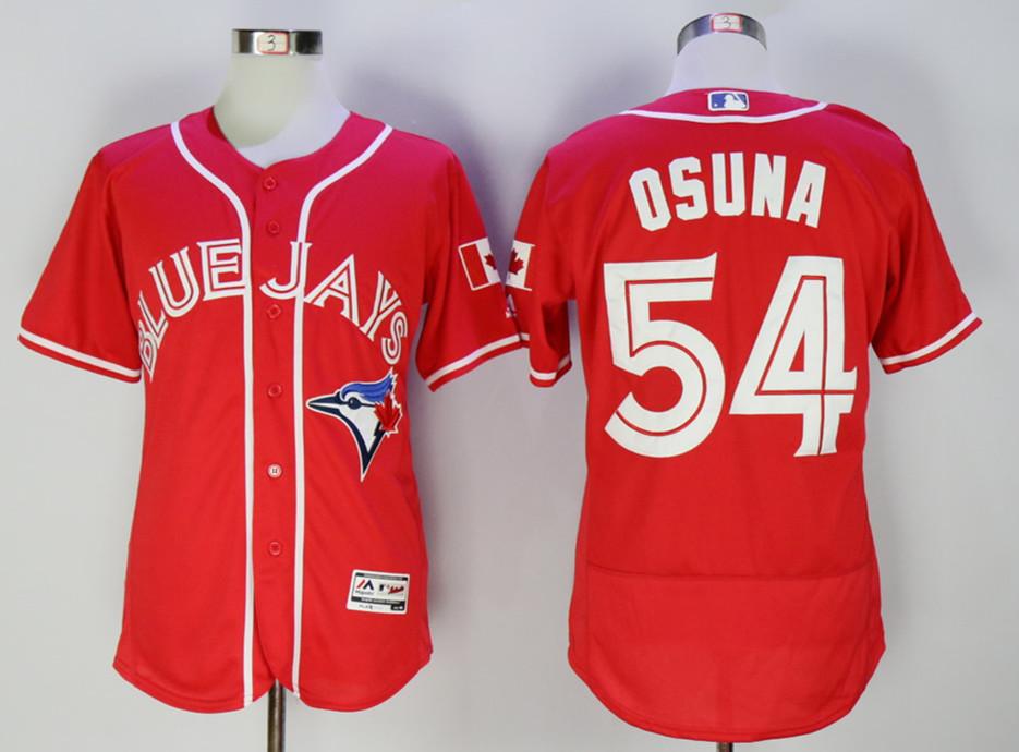 Blue Jays 54 Roberto Osuna Red Alternate Flexbase Jersey