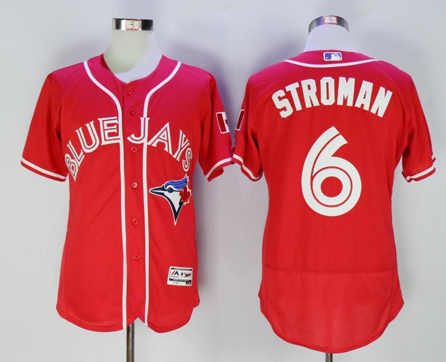 Blue Jays 6 Marcus Stroman Red Alternate Flexbase Jersey