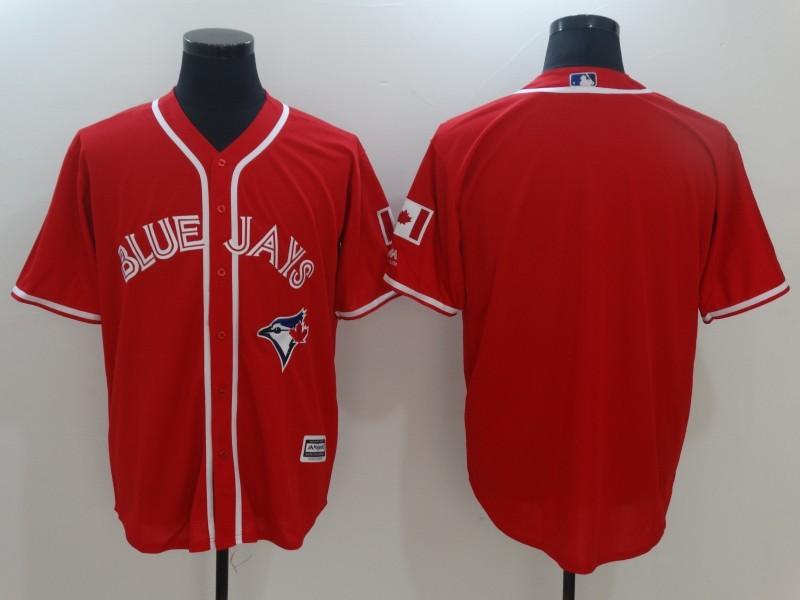 Blue Jays Blank Red Alternate Cool Base Jersey