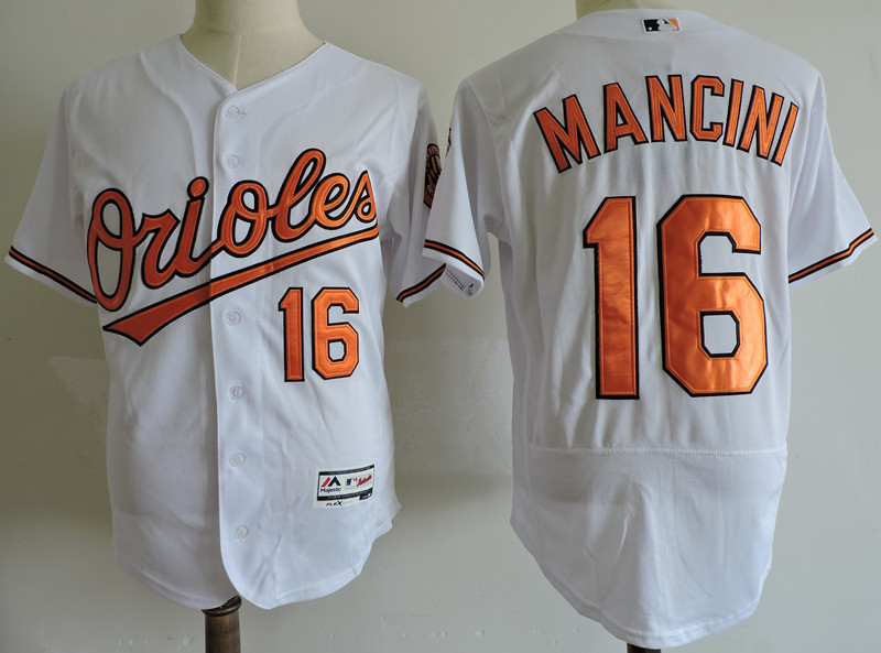 Orioles 16 Trey Mancini White Flexbase Jersey