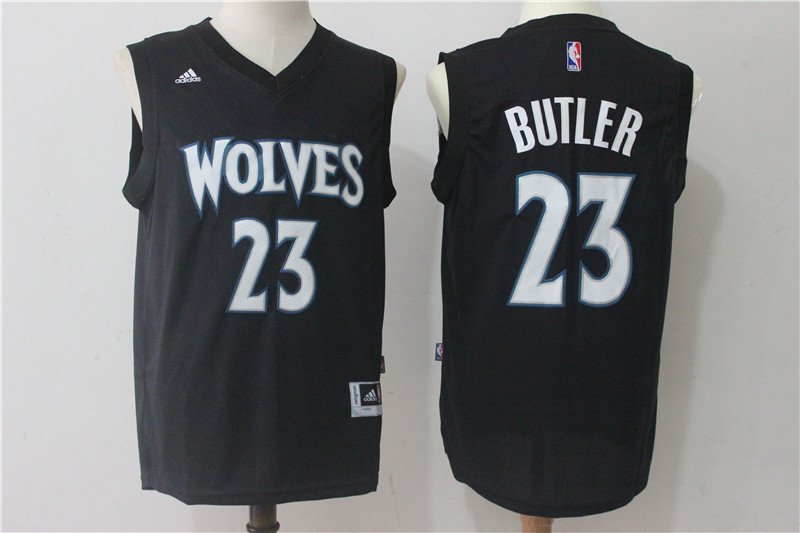 Timberwolves 23 Jimmy Butler Black Swingman Jersey