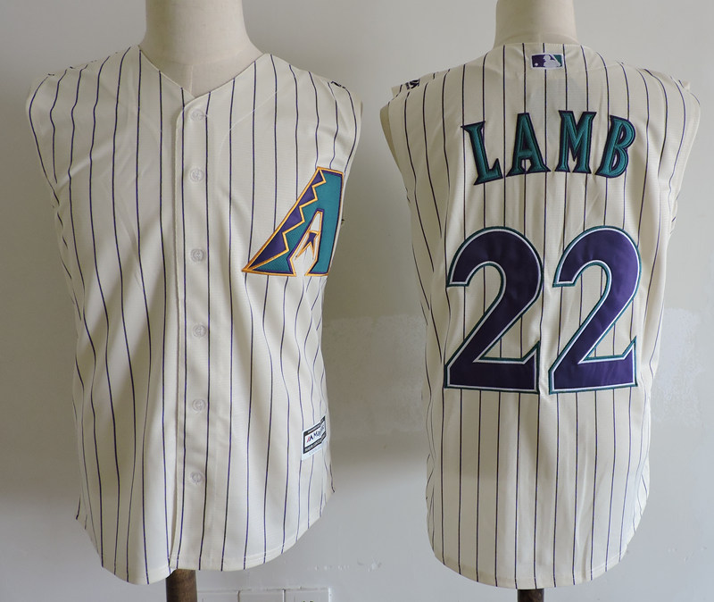 Diamondbacks 22 Jake Lamb Cream Turn Back the Clock Sleeveless Jersey