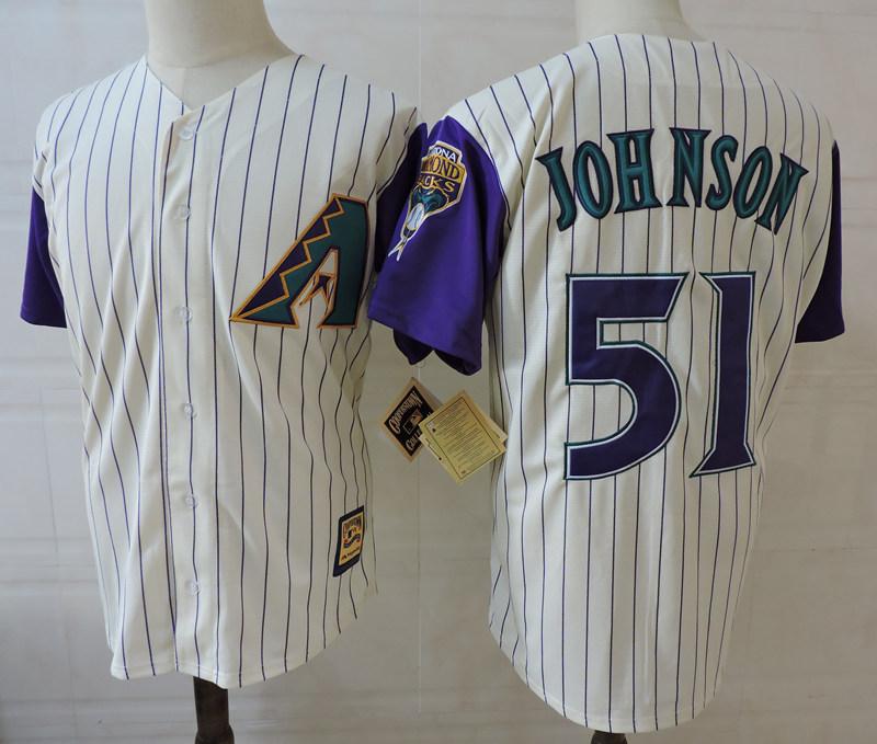 Diamondbacks 51 Randy Johnson Cream Cooperstown Collection Jersey