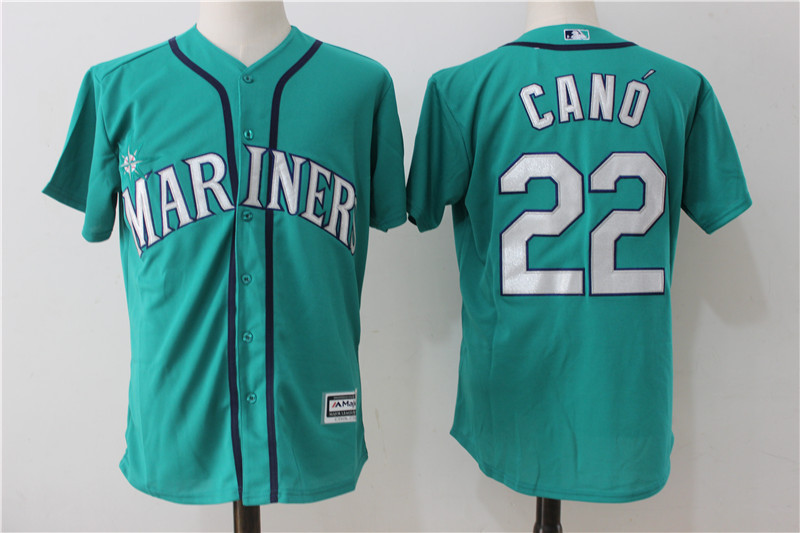 Mariners 22 Robinson Cano Northwest Green Alternate Cool Base Jersey