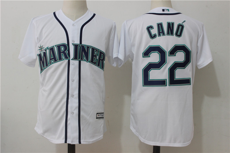 Mariners 22 Robinson Cano White Cool Base Jersey