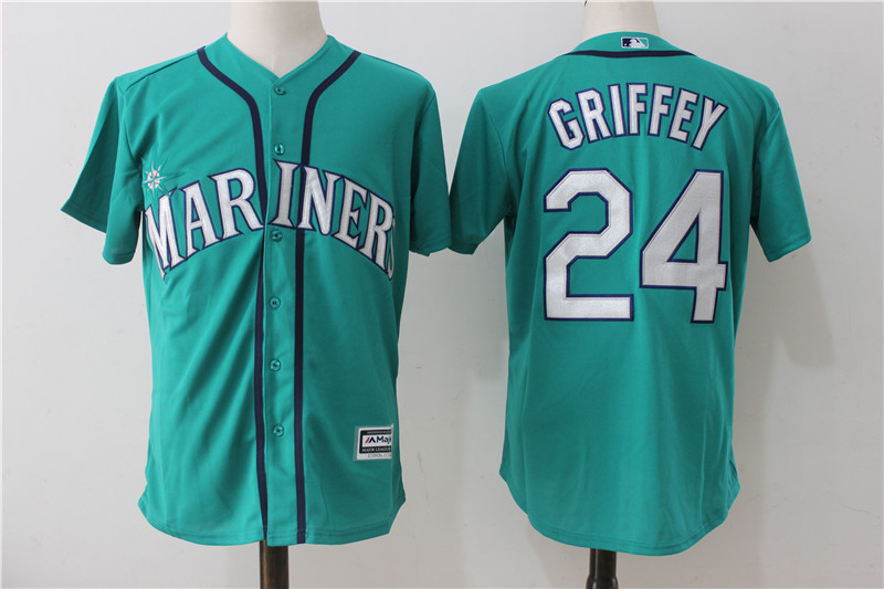 Mariners 24 Ken Griffey Jr. Northwest Green Alternate Cool Base Jersey