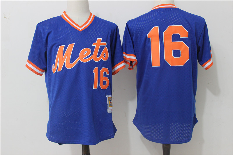 Mets 16 Dwight Gooden Blue Cooperstown Collection Mesh Batting Practice Jersey