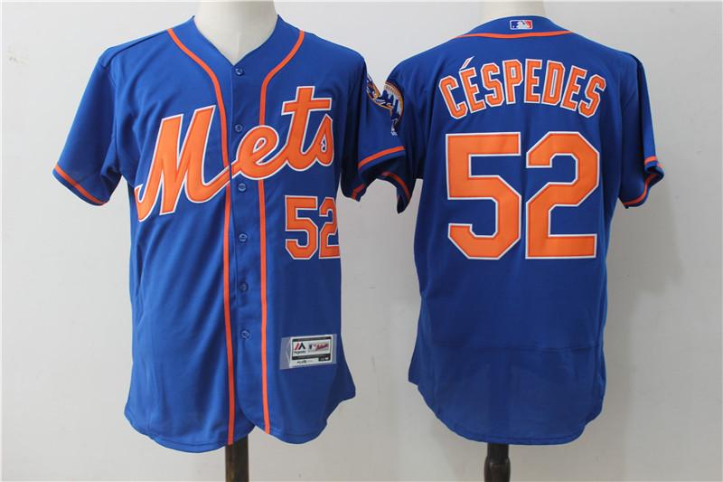 Mets 52 Yoenis Cespedes Blue Alternate Collection Flexbase Jersey