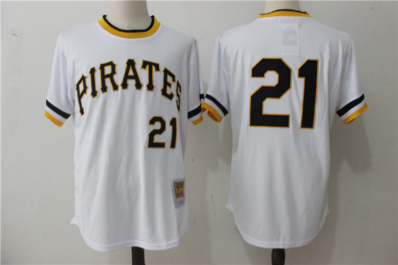 Pirates 21 Roberto Clemente White 1971 Cooperstown Collection Jersey