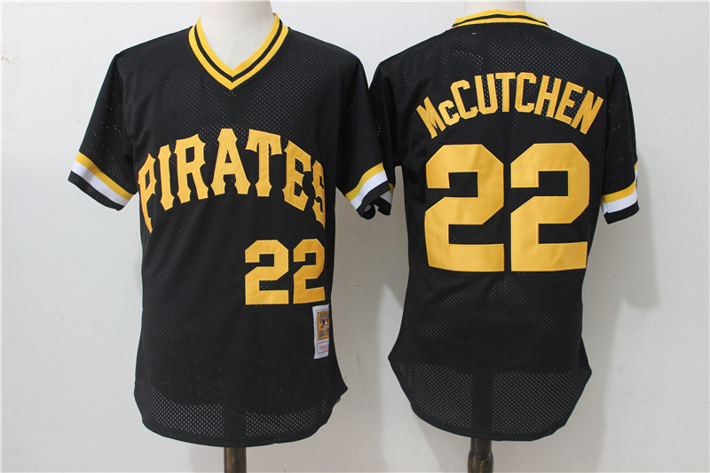 Pirates 22 Andrew Mccutchen Black Cooperstown Collection Mesh Batting Practice Jersey