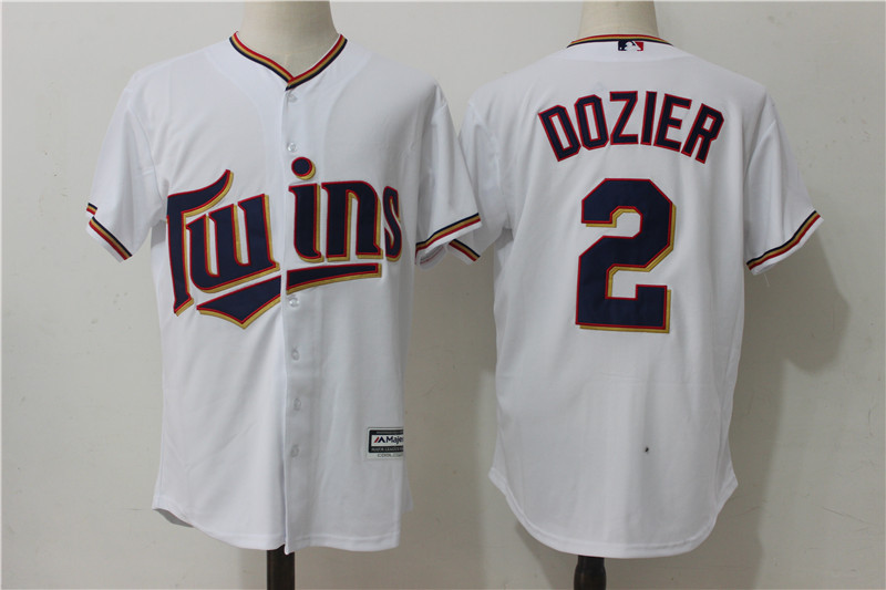 Twins 2 Brian Dozier White Alternate Cool Base Jersey