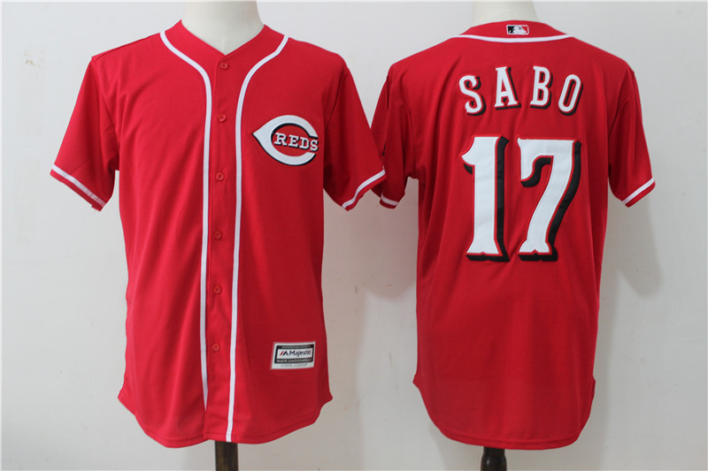 Reds 17 Chris Sabo Red Cool Base Jersey