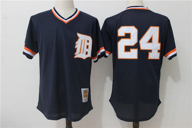 Tigers 24 Miguel Cabrera Navy Cooperstown Collection Mesh Batting Practice Jersey
