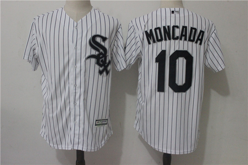 White Sox 10 Yoan Moncada White Cool Base Jersey