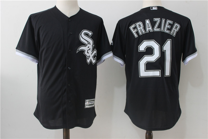 White Sox 21 Todd Frazier Black Cool Base Jersey