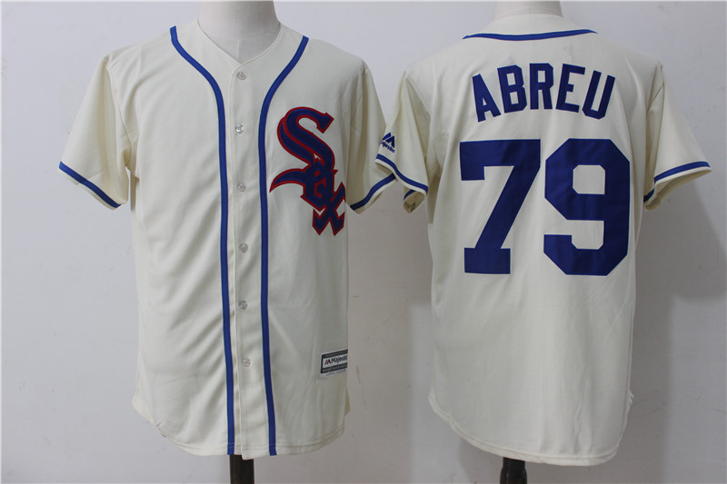 White Sox 79 Jose Abreu Cream Cool Base Jersey