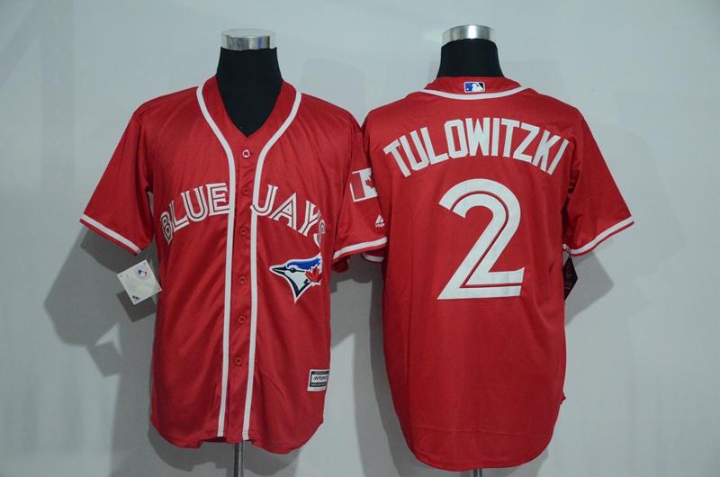 Blue Jays 2 Troy Tulowitzki Red Alternate Cool Base Jersey