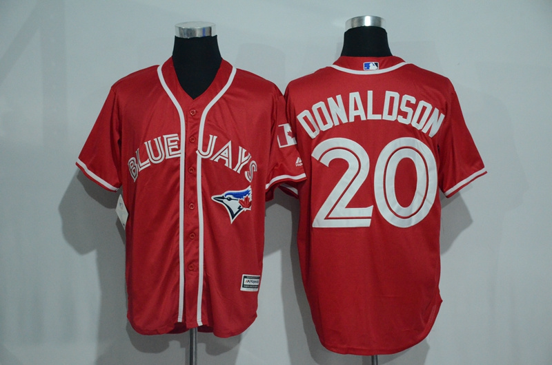 Blue Jays 20 Josh Donaldson Red Alternate Cool Base Jersey
