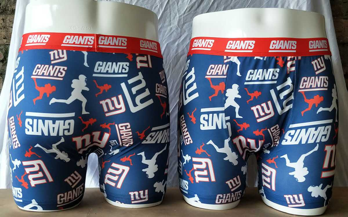 New York Giants Blue Block Swimming Trunks