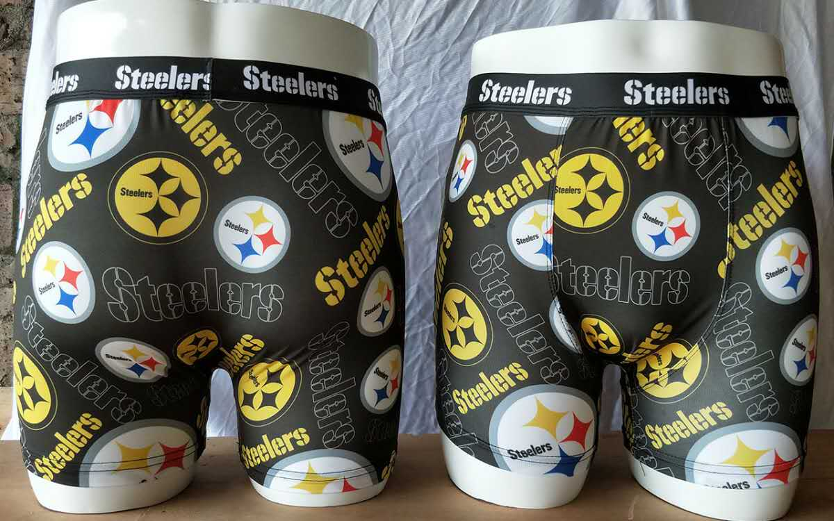 Pittsburgh Steelers Black Block Swimming Trunks