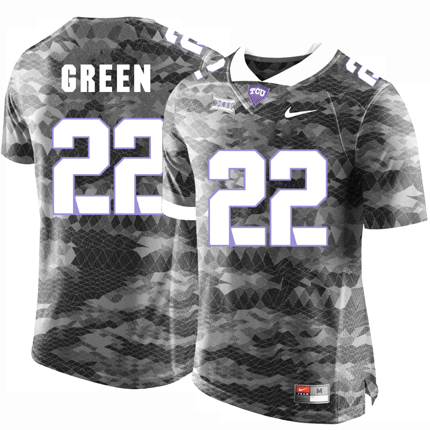 TCU Horned Frogs 22 Aaron Green Gray College Football Limited Jersey