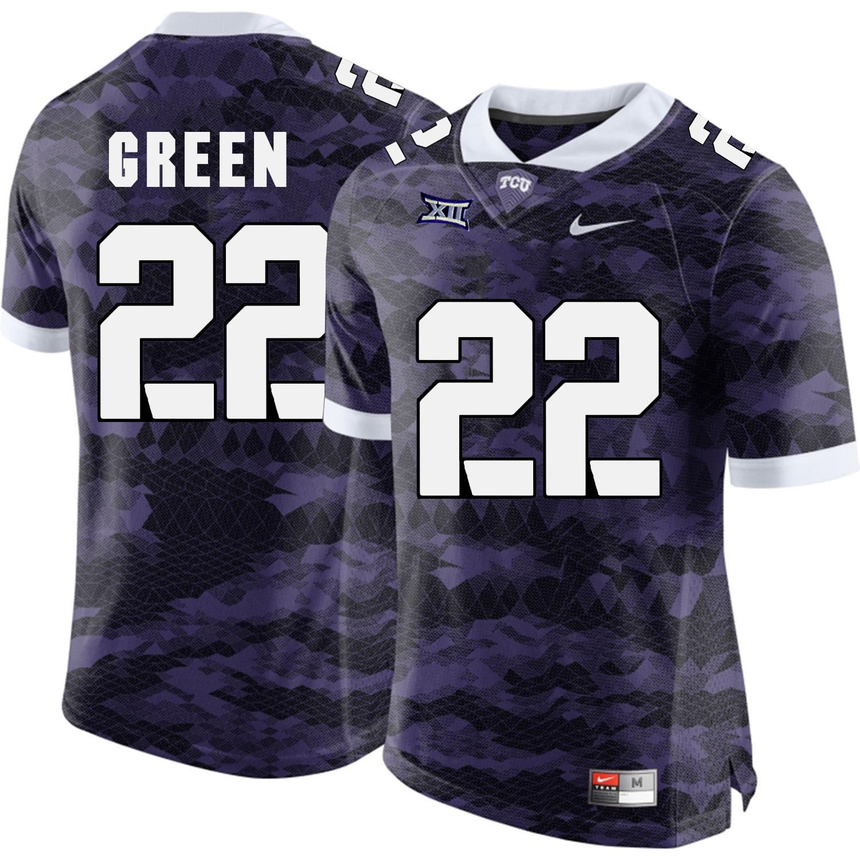 TCU Horned Frogs 22 Aaron Green Purple College Football Limited Jersey