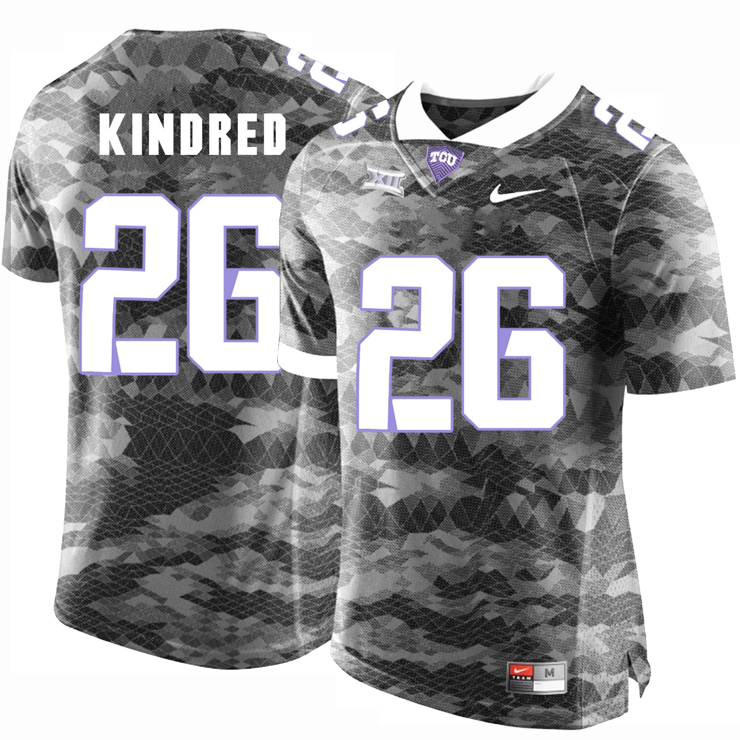 TCU Horned Frogs 26 Derrick Kindred Gray College Football Limited Jersey