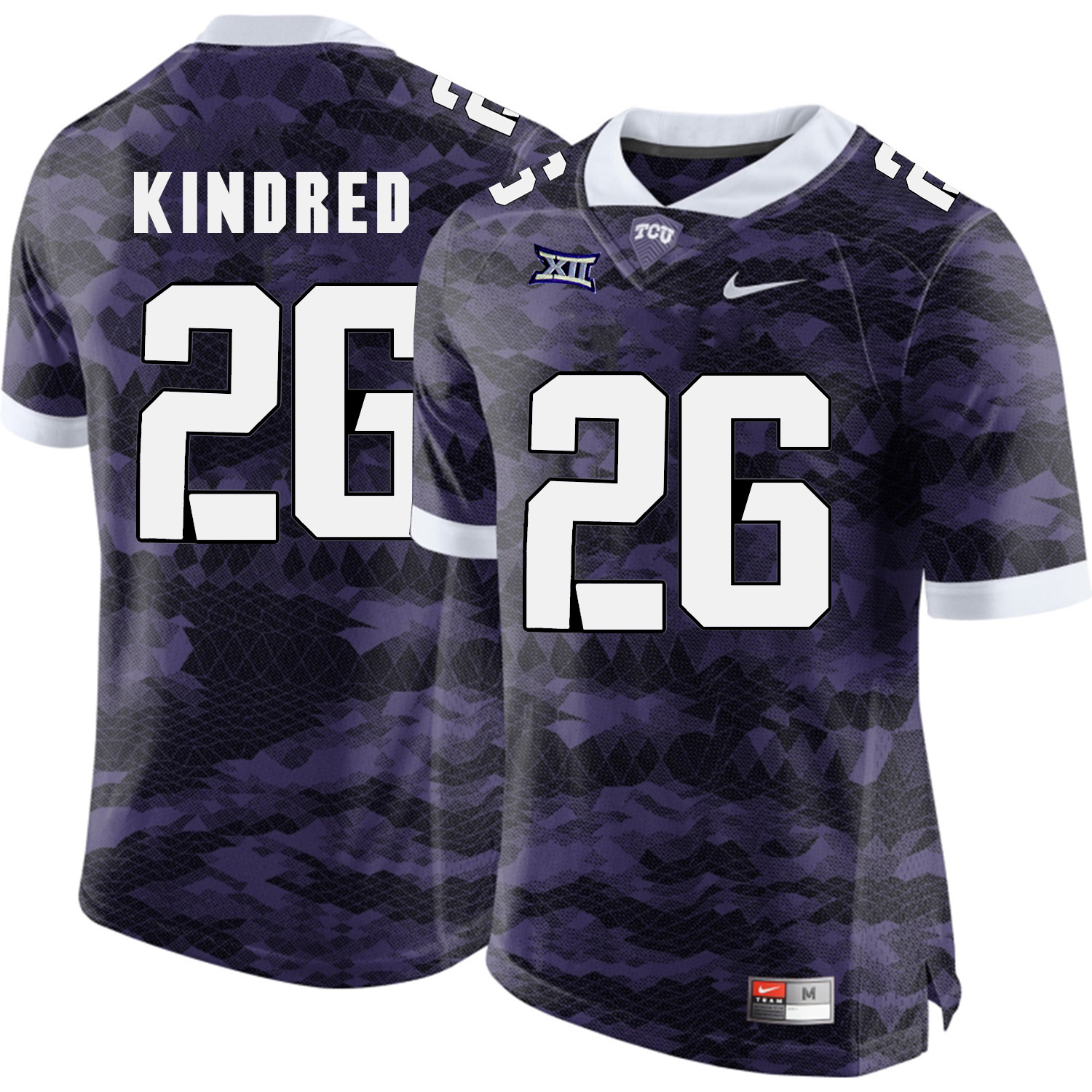 TCU Horned Frogs 26 Derrick Kindred Purple College Football Limited Jersey