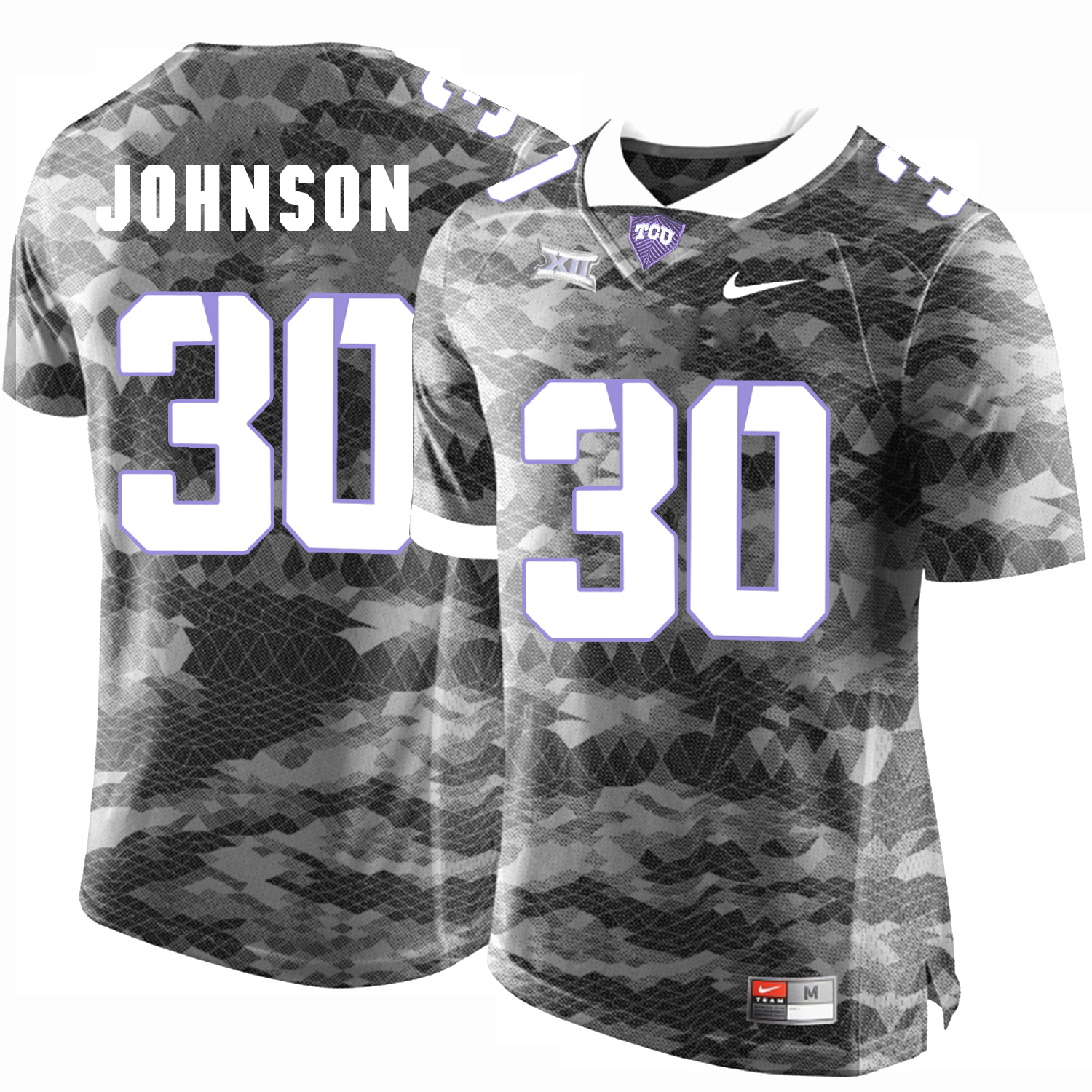 TCU Horned Frogs 30 Denzel Johnson Gray College Football Limited Jersey