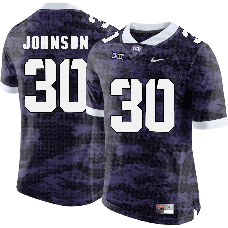 TCU Horned Frogs 30 Denzel Johnson Purple College Football Limited Jersey