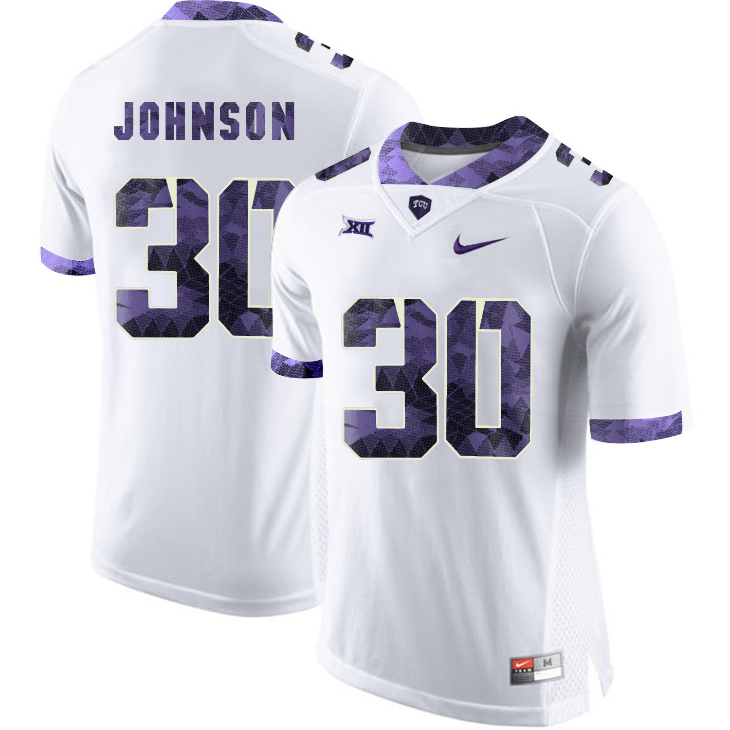 TCU Horned Frogs 30 Denzel Johnson White Print College Football Limited Jersey