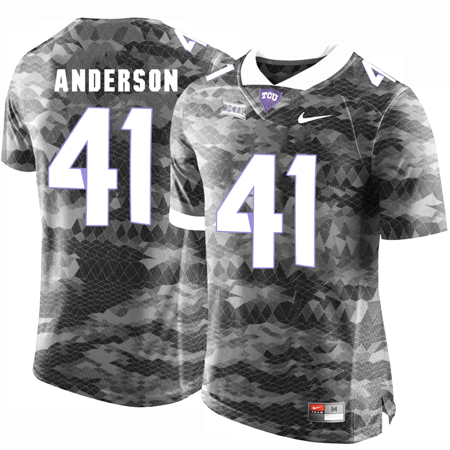 TCU Horned Frogs 41 Jonathan Anderson Gray College Football Limited Jersey
