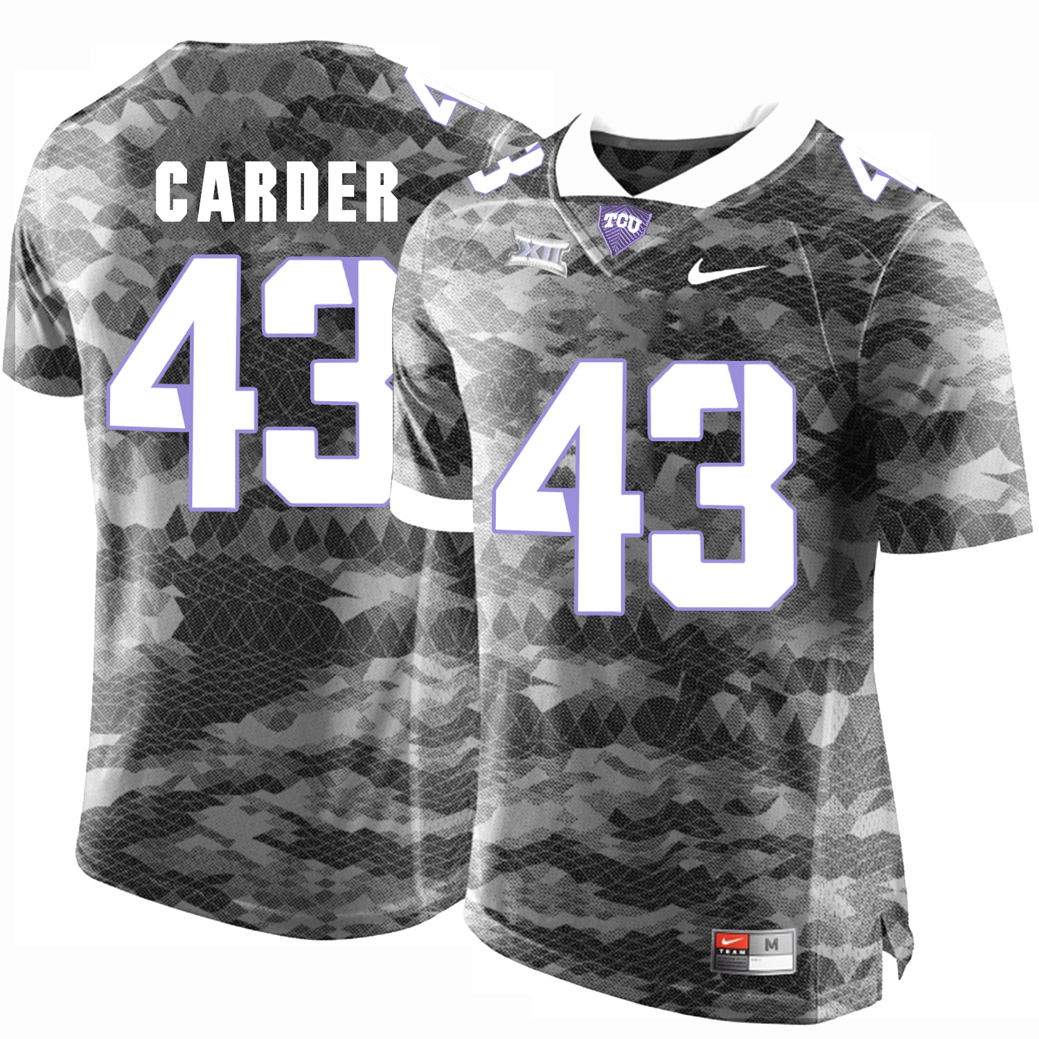 TCU Horned Frogs 43 Tank Carder Gray College Football Limited Jersey