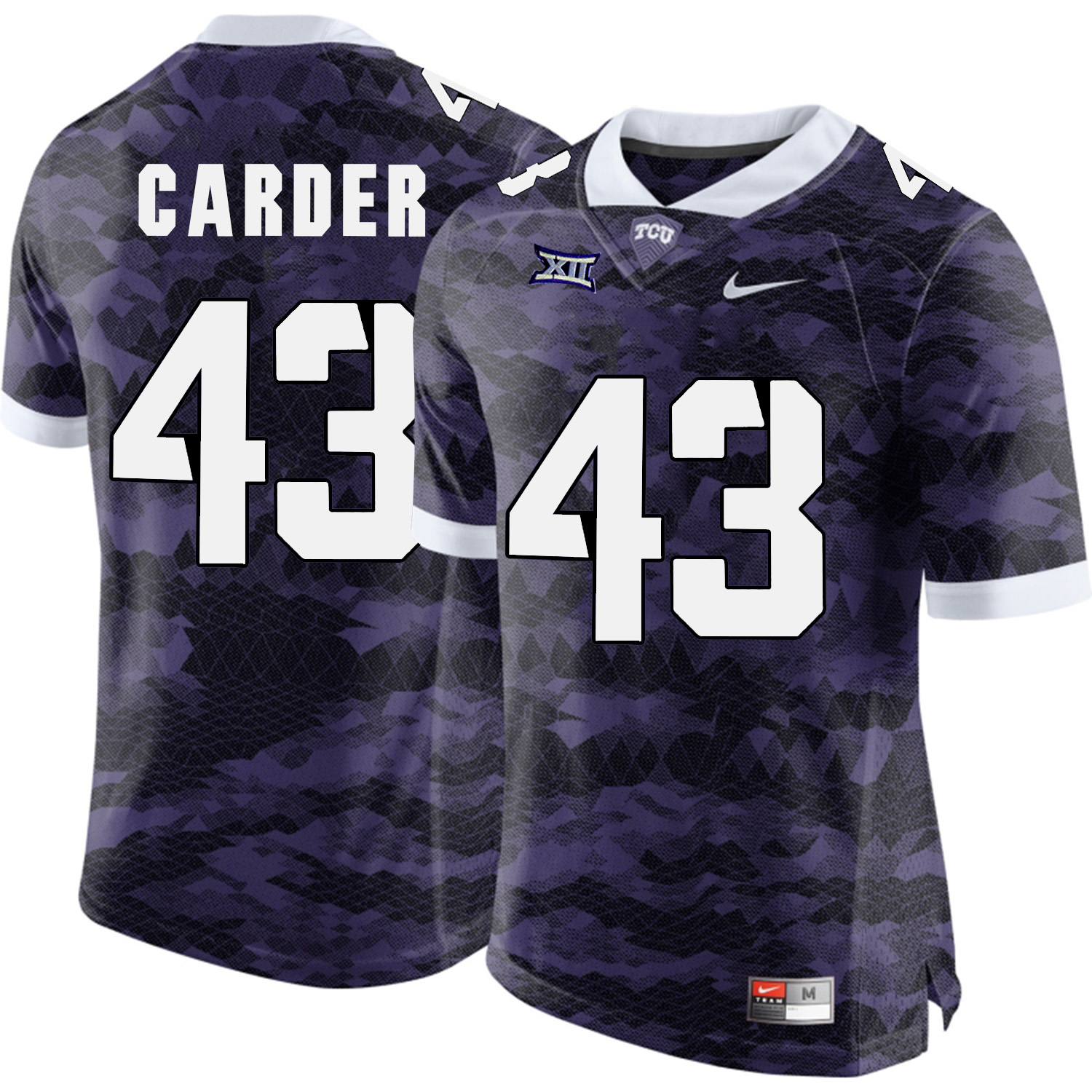 TCU Horned Frogs 43 Tank Carder Purple College Football Limited Jersey