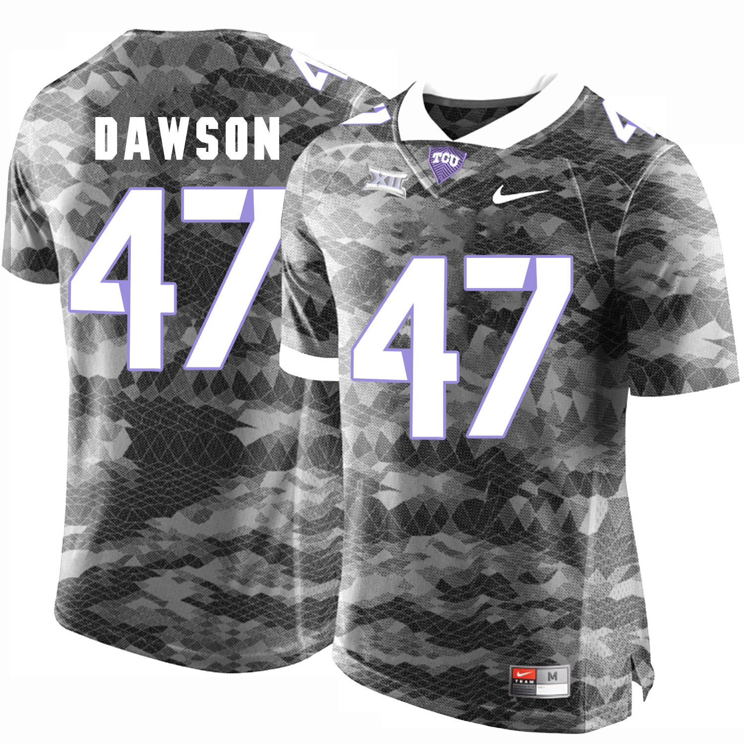 TCU Horned Frogs 47 P.J. Dawson Gray College Football Limited Jersey