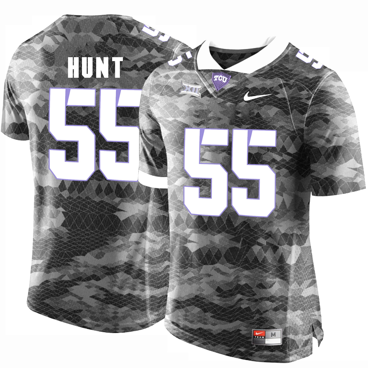 TCU Horned Frogs 55 Joey Hunt Gray College Football Limited Jersey