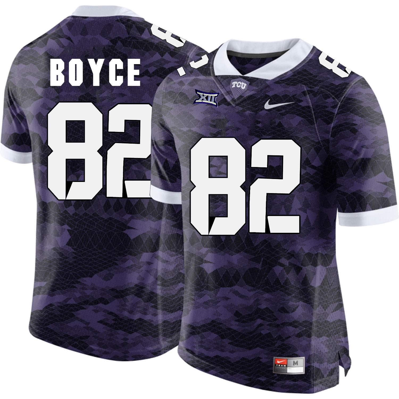 TCU Horned Frogs 82 Josh Boyce Purple College Football Limited Jersey
