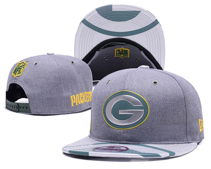 Packers Team Logo Gray Adjustable Hat YD
