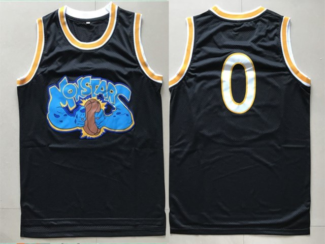 Monstars 0 Black Space Jam Stitched Movie Jersey
