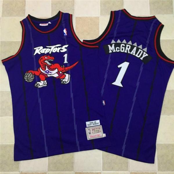 Raptors 1 Tracy McGrady Purple 1998-99 Hardwood Classics Jersey