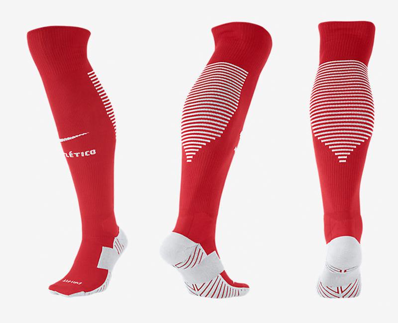 2017-18 Atletico Madrid Home Soccer Socks
