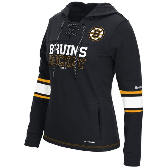 Bruins Black Women's Customized All Stitched Hooded Sweatshirt