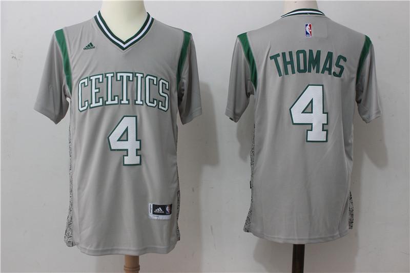 Celtics 4 Isaiah Thomas Gray Pride Swingman Jersey